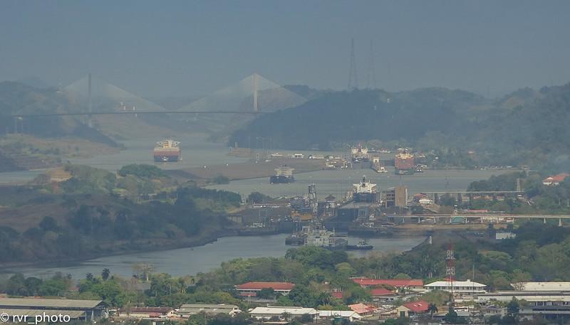 Panorámica Esclusas desde Cerro Anchón, Panamá