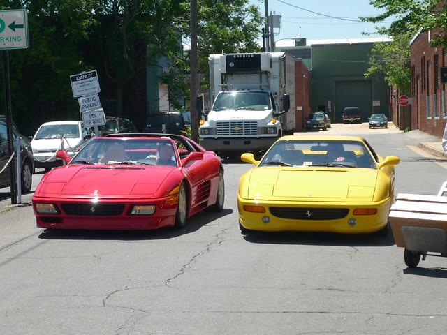 Beautiful 348 Targa and 355 Berlinetta spotted in Alexandria Virginia