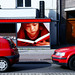 Red billboard with cars - Utrecht