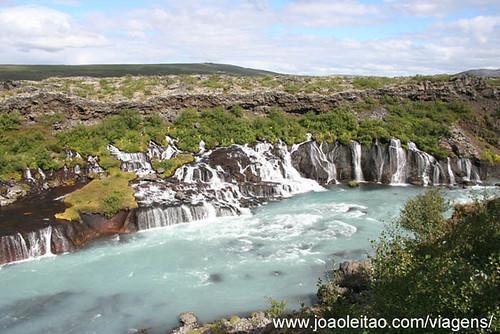 Cascatas Barnafoss Islândia
