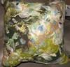 blue green pillow