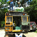 Men Loading Chicken Bus - Marcala, Honduras