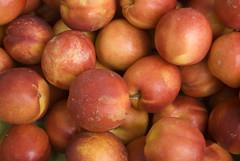 produce, fruit, food, nectarine,