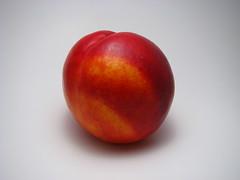 flower(0.0), plant(0.0), apple(0.0), peach(1.0), red(1.0), produce(1.0), fruit(1.0), food(1.0), nectarine(1.0),