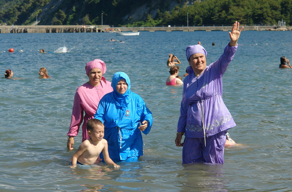 Women in burkinis