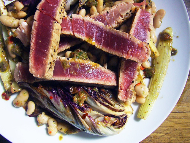 Grilled Radicchio, Fennel & Tuna Salad with Spicy Anchovy … | Flickr ...