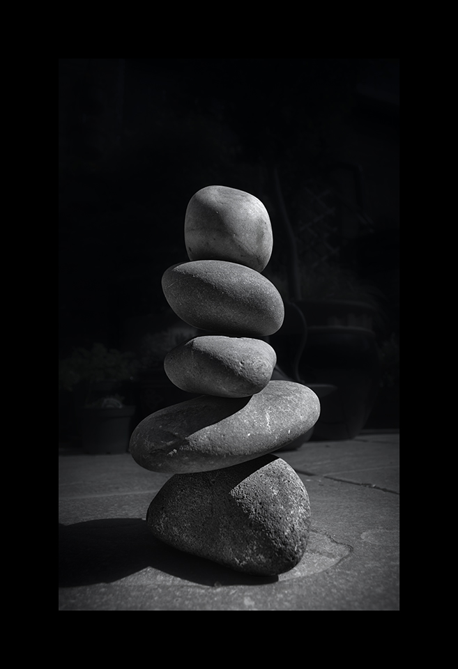 Pebble Balancing by Nicholas M Vivian