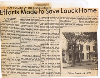 Efforts Made to Save Lauck Home