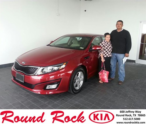 Thank you to Elisabet Hernandez on your new 2014 #Kia #Optima from Rudy Armendariz and everyone at Round Rock Kia! #NewCar by RoundRockKia
