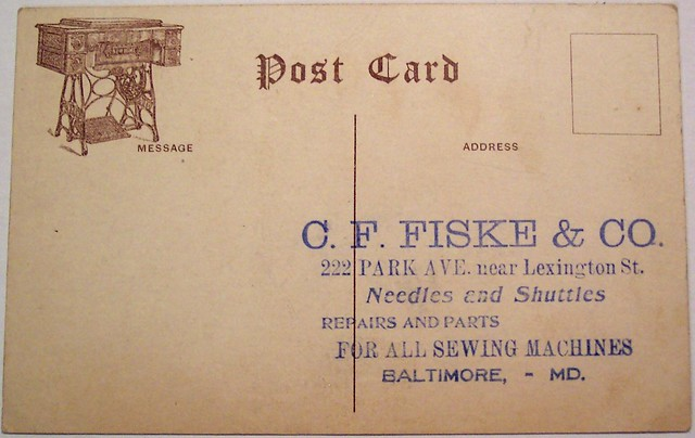 Vintage Postcard - C.F. Fiske & CO , Baltimore, MD ...