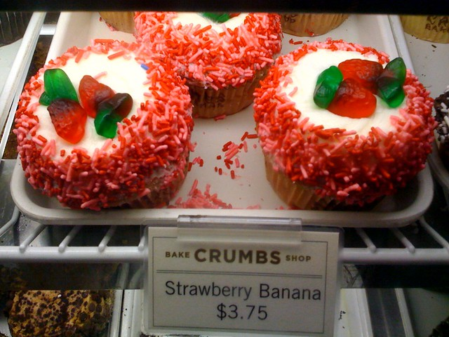 Crumbs strawberry banana cupcakes | Flickr - Photo Sharing!