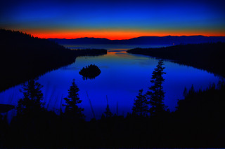 Dawn's First Glow Over Emerald Bay