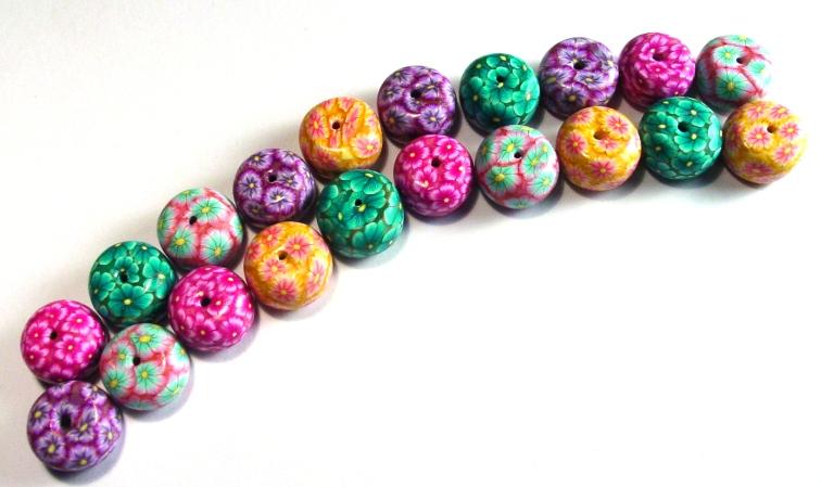 Rainbow of Tyre Beads