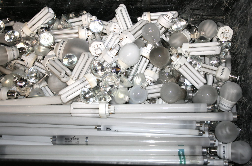 Lightbulbs for recycling