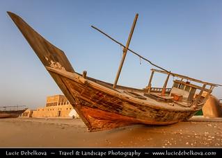 Qatar - Early Morning at Al Wakra and its Dhows (Boats)