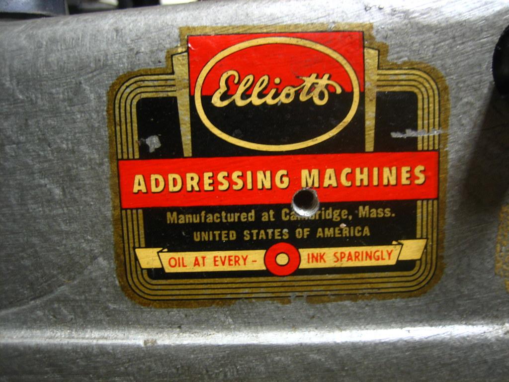 Elliott Addressing Machine