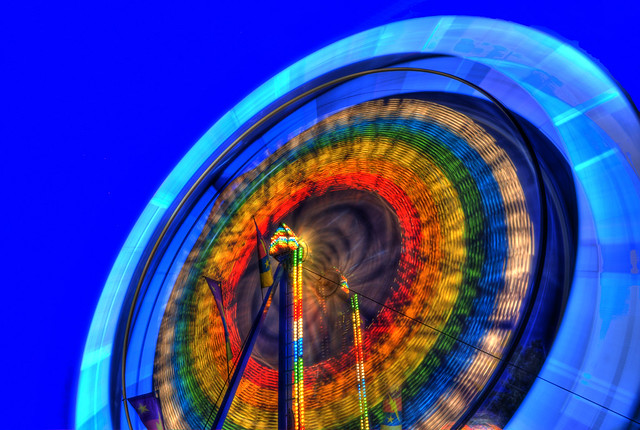 Ferris Wheel Long Exposure in HDR