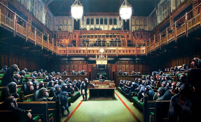 monkey parliament by banksy