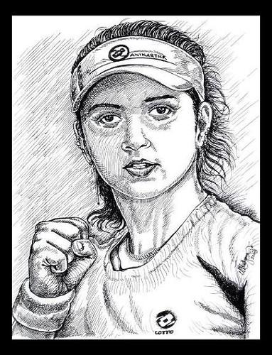 , Sania Mirza Indian Tennis Angel, My cartoon Blog, My cartoon Blog