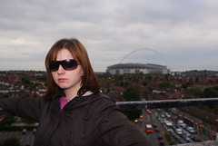 A portrait of Stephanie on the roof of the North Unisys Tower, Stonebridge.
