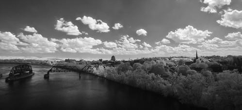bridge panorama usa landscape spring stitch connecticut infrared middletown connecticutriver 06457 johnjmurphyiii