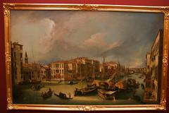 2009-06-11 06-14 Dresden 218 Gemäldegalerie Alte Meister, Canaletto - Der Canal Grande in Venedig mit der Rialtobrücke