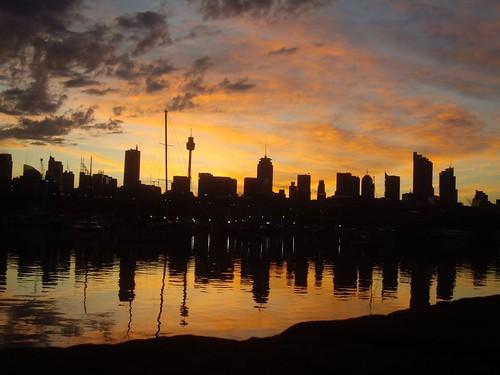 city sunrise sydney glebe