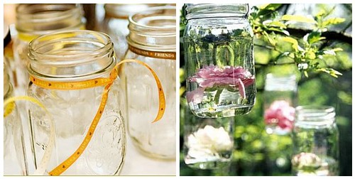 Mason Jars for Outdoor Wedding Decorations