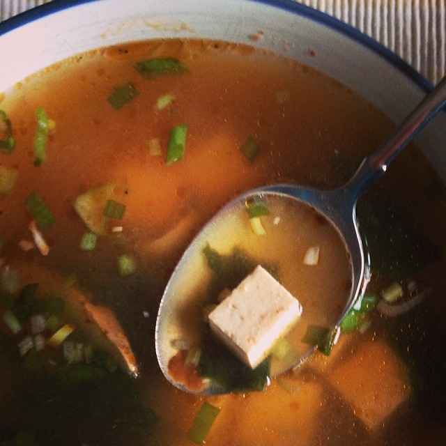 Sick Day Cure #miso#soup #tofu #ginger #dontknockituntilyoutryit