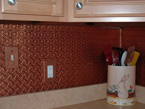 Kitchen Copper Ceiling Tiles