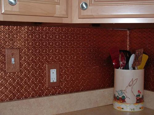 faux tin backsplash roll copper wc20 talissa decor