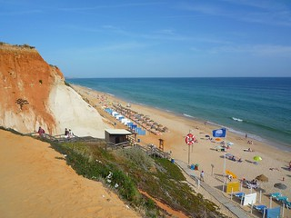Изображение Praia da Falésia. sea sun beach portugal sand praiadafalésia