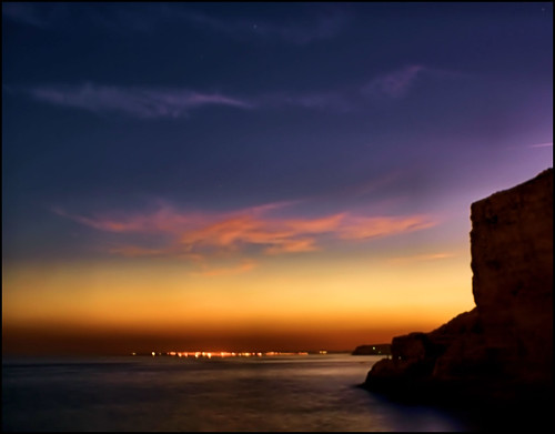 sunset sea portugal cliffs algarve carvoeiro algarseco goldstaraward sonyalphadslra200 fotocompetitionbronze