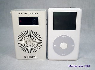 Ipod and transistor radio