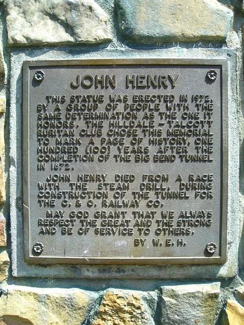 John Henry plaque