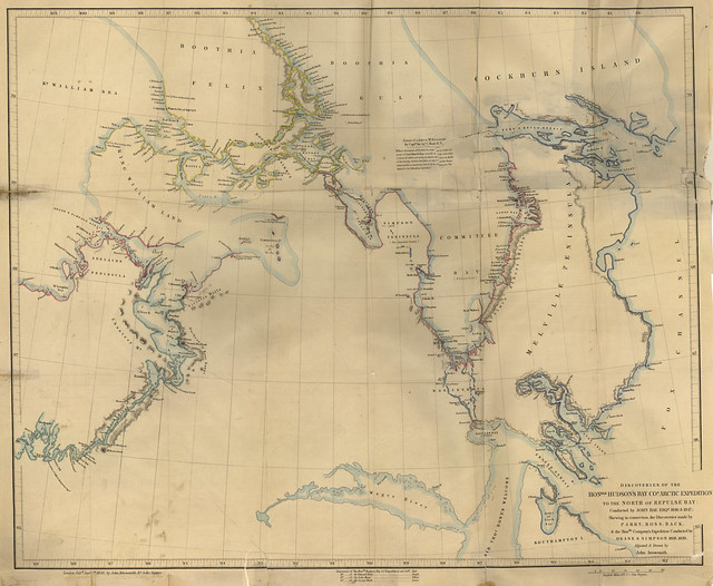 Discoveries of Hudson's Bay Arctic Expedition to the North of Repulse Bay Conducted by John Rae 1846 & 1847 Shewing in Connection the Discoveries made by Parry, Ross, Back & the Honble. Company's Expedition Conducted by Dease & Simpson 1838 1839 (1850)