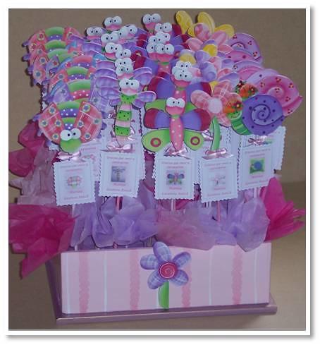 imanes flores mariposas cada iman lleva un palito y su tarjeta de ...
