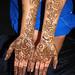 Poonam bridal palms shot