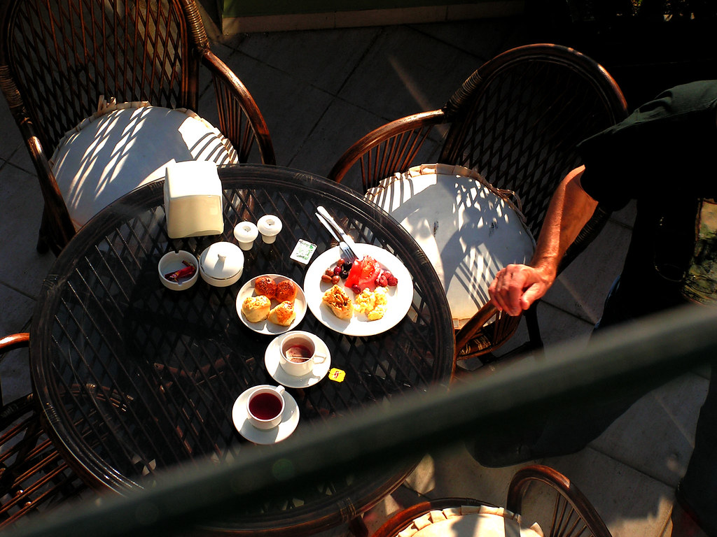 breakfast from above
