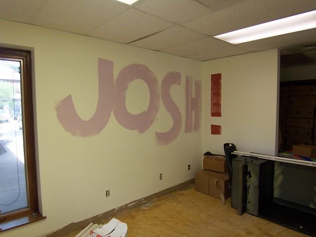 ryan painted josh's office