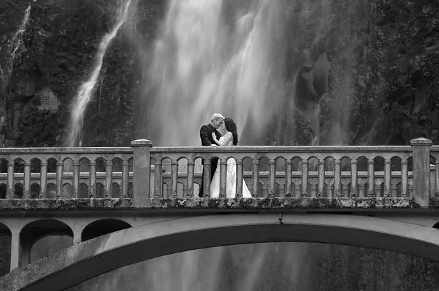 Forever at the falls 1 - B&W