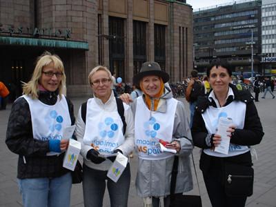 Finnish volunteers raise awareness