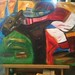 My Version of Peter Max's Racehorse Painting