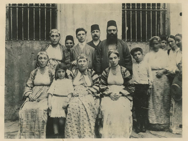 David Altchek (second from right, back row) with neighbors--the Kovo family