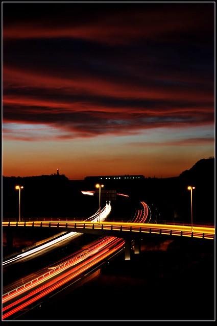 Autovía Murcia Albacete Nocturna