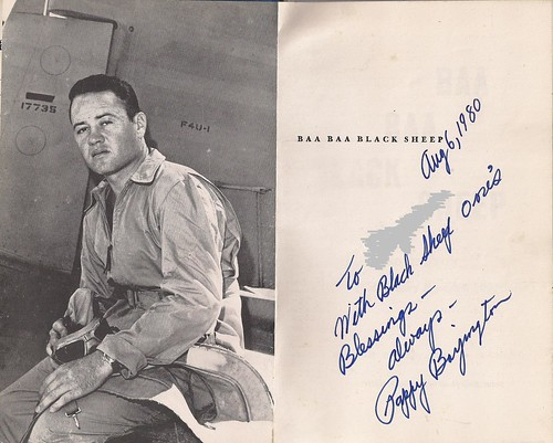 08/06/80 Greg ''Pappy'' Boyington Autograph