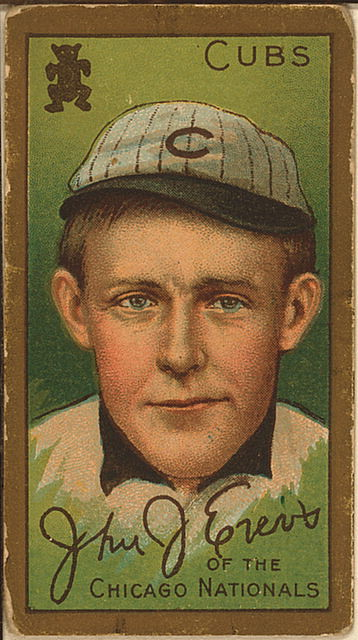 [John J. Evers, Chicago Cubs, baseball card portrait] (LOC)