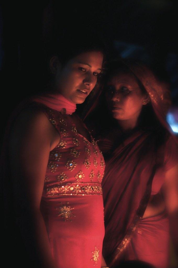 Ladies At A Hindu Temple In Kathmandu