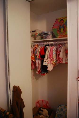 All the pink clothes in Savannah's closet!
