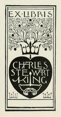 Bookplate of Charles Stewart King